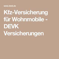 Kfz-Versicherung für Wohnmobile - DEVK Versicherungen