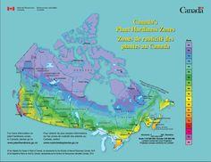 Canada's Plant Hardiness Zones - Zones de rusticité des plantes au Canada