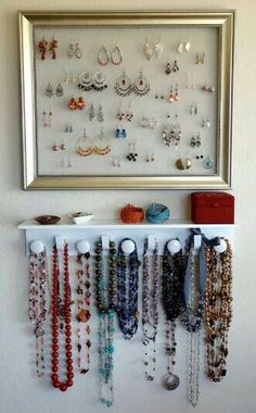 Diy Jewelry Organizer Jewellery Storage Box Wall Rack