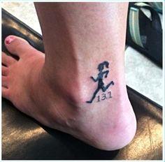 One of my new tattoos. Designed it myself after running my first half Marathon. Wedding Band Tattoo, Tattoo Band, I Tattoo, Wedding Bands, Running Girl Tattoos, Ankle Tattoos, Tatoos, Runner Tattoo, New York Tattoo