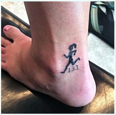 One of my new tattoos. Designed it myself after running my first half Marathon.