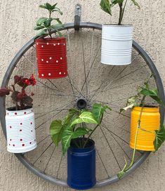 All Details You Need to Know About Home Decoration - Modern Flower Pot Crafts, Flower Pots, Spring Projects, Garden Projects, Window Ledge Decor, Aluminum Can Crafts, Bicycle Decor, Reuse Plastic Bottles, Vertical Garden Design