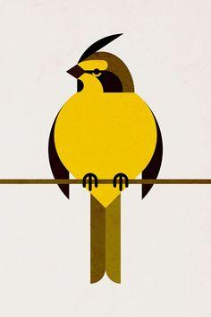 Scott Partridge - Illustration - Yellow Cardinal