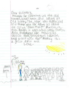 It is wonderful to have feedback from the student field trips.