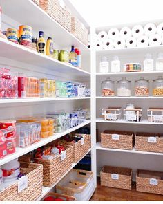 We all could use a little less clutter in our lives. Start your spring cleaning off right with these easy home organization tips. Whether it's a DIY pantry shelf makeover or a stylish entryway update, these home hacks are sure to please. Pantry Makeover, Shelf Makeover, Kitchen Organization Pantry, Home Organization Hacks, Organized Pantry, Pantry Ideas, Kitchen Storage, Pantry Cabinets, Organize Food Pantry