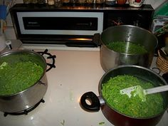 green mac n cheese, and other food for shrek party