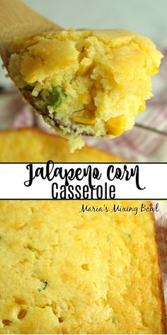 Jalapeno Corn Casserole Are you in the mood for a side dish recipe that is certain to add a little kick to the meal? You're going to love this Jalapeno Corn Casserole! Baked Creamed Corn Casserole, Creamy Corn Casserole, Easy Casserole Recipes, Paula Deen Corn Casserole, Sweet Cream Corn, Cream Cheese Corn, Polenta Pizza, Tasty Dishes, Food Dishes