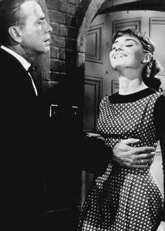 Audrey Hepburn and Humphrey Bogart in Sabrina