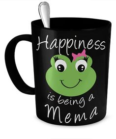 Happiness is being a Meme Coffee Mug  *11oz Mug  *Same Print on each side  *Dishwasher and microwave safe Ceramic Mug  *Your Dog Coffee Cup will be Printed and shipped from the USA  *The highest quality printing possible is used. Your Ceramic Mug will never fade no matter how many times you wash it.  ***** Mema coffee mug, great gift for Mema