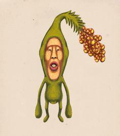 コビト網 植亜目 触頭科 キラワレ属  キラワレスギ  ●体長 15cm~18cm(トウチンは含まない)  ●生息地 杉の木やその周辺にすんでいる  ●特徴   ・ トウチンから花粉のような粉を出す  ・ 強力な前歯がある  ●食べ物 木の実や木の皮を食べている