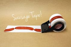 Sausage Tape for Packaging // Shipping Tape // Dachshund // Hot Dog