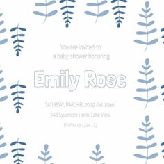 baby shower graphic design template