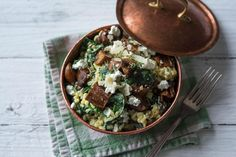 Kerniges Graupenrisotto Palak Paneer, Sprouts, Lunch, Vegetables, Ethnic Recipes, Food, Healthy Cereal, Work Lunches, Chef Recipes
