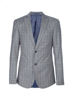 Checked two piece suit