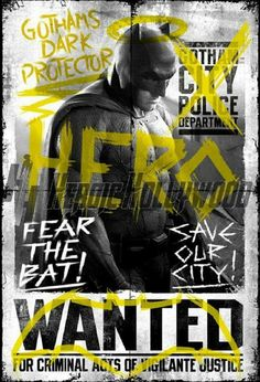 Batman v Superman Batman Wanted - plakat Batman Vs Superman, Batman V Superman Poster, Posters Batman, Dc Comics Poster, Spiderman, Superman Dawn Of Justice, Superhero Poster, Batman Arkham, Batman Art