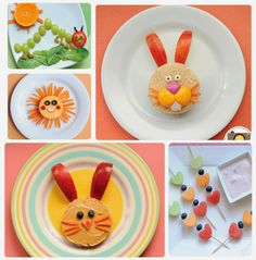 Love these cute Easter bunny lunches for the kids-Fun food!  Hungry Caterpillar