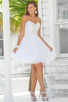 Short White Prom Dresses