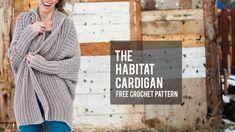 How to Crochet a Modern Draped Cardigan - Easy Free Crochet Sweater Pattern