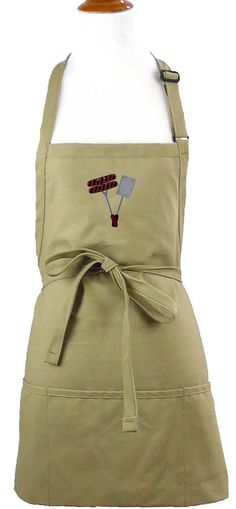 Grilling Tools And Hot Dog Apron Youth & Adult Size Cookout BBQ + Free Monogram Name Custom Embroidered