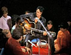 """Elvis sit down shows live on June 27, 1968; Presley's informal jamming in front of a small audience in the special is regarded as a forerunner of the """"unplugged"""" concept, later popularized by MTV"""