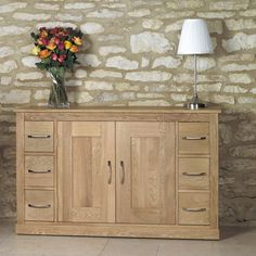 Six Drawer Oak Sideboard