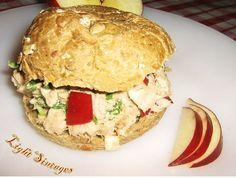 Light Συνταγές: Σάντουιτς με τόνο Salmon Burgers, Sandwiches, Food And Drink, Chicken, Baking, Breakfast, Healthy, Ethnic Recipes, Tortillas