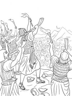 gideons battle against the midianites coloring page from judge gideon category select from 24848 printable crafts of cartoons nature animals bible and