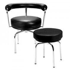 Tavolo LC6 e sedie girevoli LC7, Le Corbusier 1928 | RETRO MODERN ...