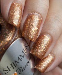 Shimmer Polish Carmen over China Glaze Desert Sun