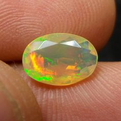 1 Carat Natural Earth Mined Ethiopian Fire Opal 10x7 MM Oval Shape Cut Stone #Unbranded