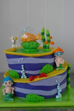 Bubble guppies cake — Childrens Birthday Cakes