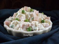 Egyszerű, könnyű fogás ami bő fél óra alatt elkészíthető természetesen zsenge, új zöldborsóból.  A nagy melegben néha jól esik egy kis salát... Potato Salad, Potatoes, Ethnic Recipes, Food, Finger, Salads, Recipes, Potato, Essen