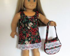 Pink and Black with Glitter Flowers Dress Made to Fit Dolls