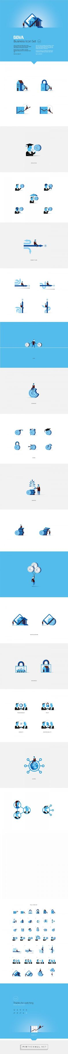 BBVA Business Icons on Behance - created