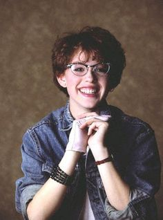 Young Molly Ringwald. Proves you can look different and be gorgeous