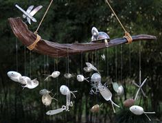 Beneath the Sea - Series 2 ,  Spoon fish & Driftwood Wind Chime. $189.95, via Etsy. This is awesome!