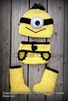 Crochet Minion baby covers ...