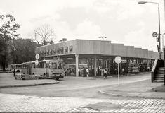 1976 Gera Busbahnhof am Hauptbahnhof Street View, Gera, Central Station