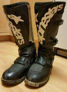 BROWN 10,5 = 43,5 Alpinestars Firm Boots Bottes de moto Cafe Racer