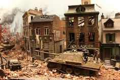 Miniature World WWII diorama by c0yote, via Flickr