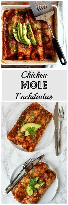 Chicken Mole Enchiladas