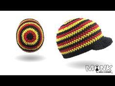 Mütze häkeln - Rosenstäbchen häkeln - halbe Stäbchen im Zickzack Muster - Deutschland Mütze