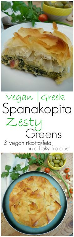 Spanakopita made vegan! My favourite Greek Filo Pastry Pie, full of yummy…