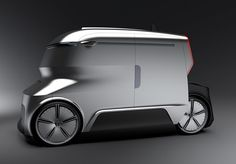As urban areas grow, so shrink the pathways for delivery trucks! Some cities have even placed restrictions on commercial vehicle sizes. Designed in response to this Semi Trucks For Sale, Pop Up Truck Campers, Van Design, Truck Interior, Truck Art, Lifted Ford Trucks, Smart Car, Truck Design, City Car