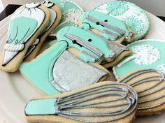 baking themed sugar cookies. so cute!