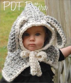 The new 2016 rabbit shape warm knitted cap Children's winter cloak thickening handmade scarves shawl long ear coffee and grey