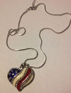PATRIOTIC-RHINESTONE-4TH-OF-JULY-RED-WHITE-BLUE-HEART-PENDANT-WITH-NECKLACE