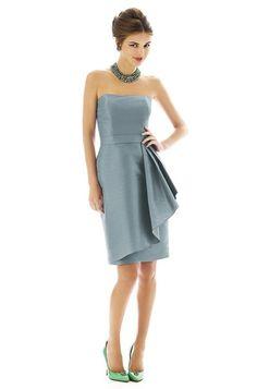 Color: Breezy (or the light grays) - Alfred Sung D593 Bridesmaid Dress | Weddington Way