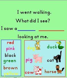 I WENT WALKING SMARTBOARD FILE - TeachersPayTeachers.com