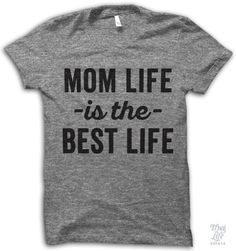 Mom life is the best life! Digitally printed on an Athletic tri-blend t-shirt. You'll love it's classic fit and ultra-soft feel. 50% Polyester / 25% Rayon / 25% Cotton. Each shirt is printed to order